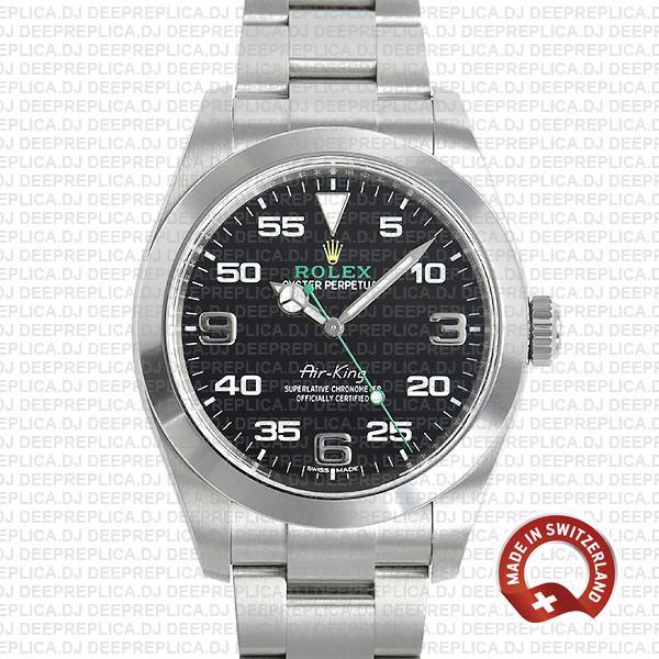 Rolex Air King 40mm 904L Steel | High Quality Replica Watch