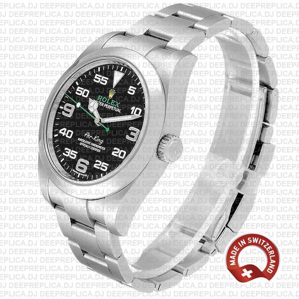 Rolex Air King 40mm 904L Steel Black Dial Arabic Markers 116900 Swiss Made Replica Watch
