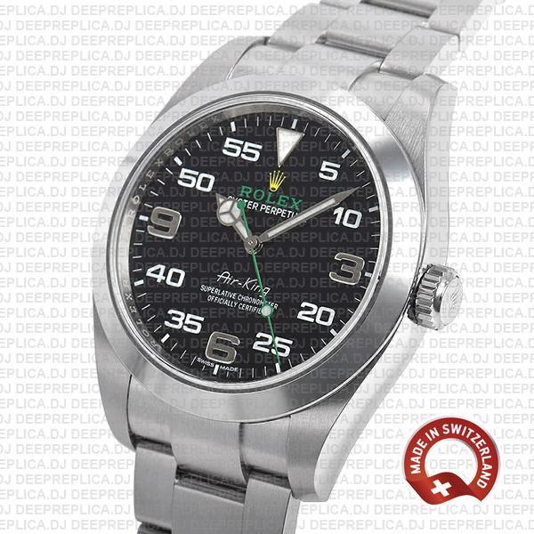 Rolex Air-king 40mm Black Dial Arabic Markers 904l Steel 116900 Swiss Replica Watch