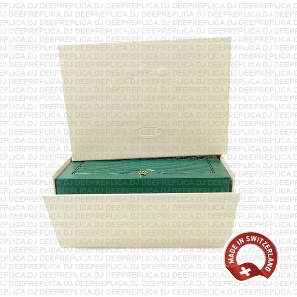 Rolex Wood Watch Boxes with all Seal Tags, Product Pamphlet, Green Laminated Finish, Authenticity Papers