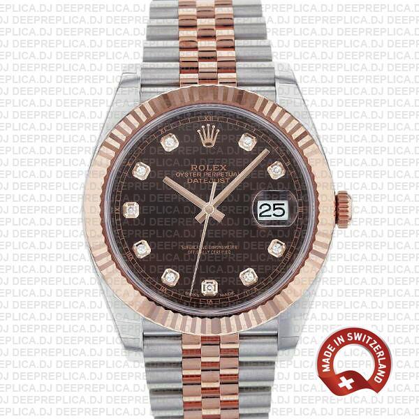 Rolex Datejust Chocolate Diamond Dial | Swiss Replica Watch