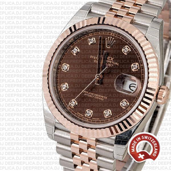 Rolex Replica Datejust 41 Jubilee Bracelet Two-Tone 18k Rose Gold