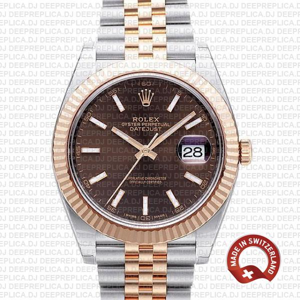 Rolex Datejust 41 Chocolate Dial Jubilee | Rolex Clone Watch