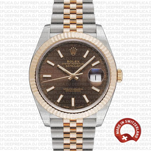 Rolex Datejust 41 Chocolate Dial Jubilee Rolex Clone Watch