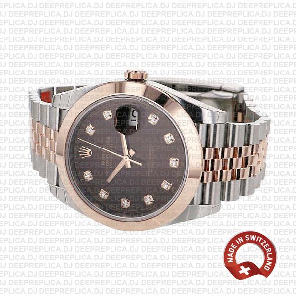 Rolex Datejust Chocolate Dial Diamonds Jubilee Replica Watch