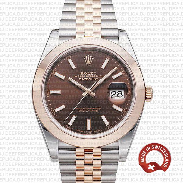 Rolex Datejust 41 Chocolate Dial   Best Rolex Replica Watch