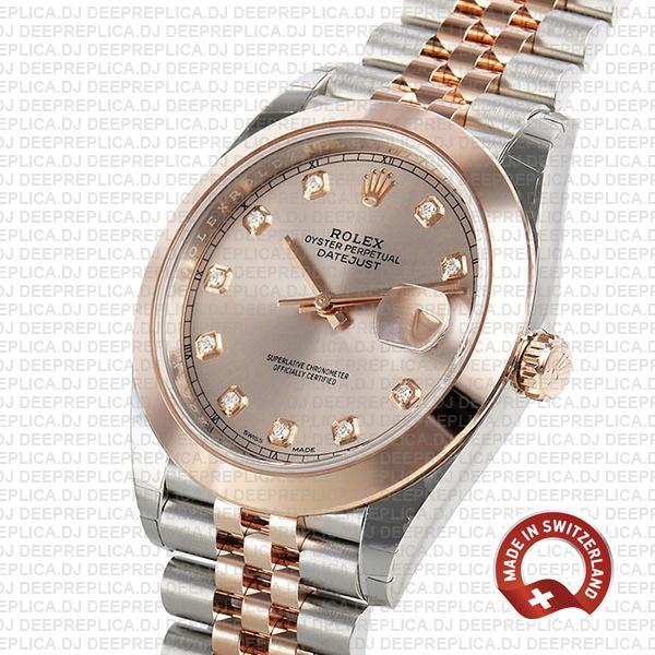 Rolex Datejust 41 Pink Diamond Dial Two-Tone Replica Watch