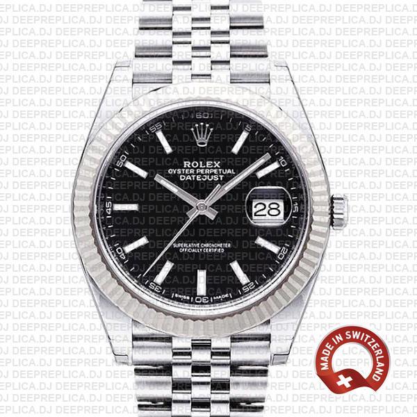 Rolex Datejust 41 Black Dial Jubilee | Top Rolex Replica Watch
