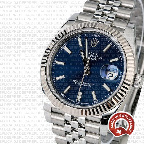 Rolex Datejust 41mm Blue Dial Jubilee Watch | Rolex Replica
