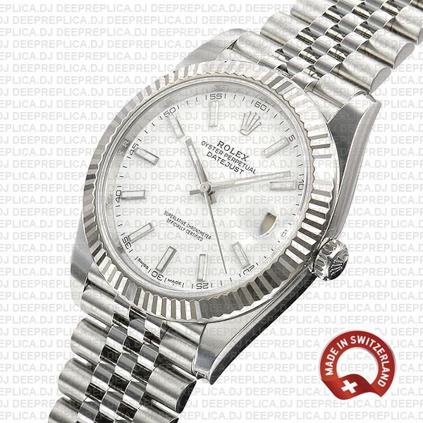 Rolex Datejust 41 White Dial   High Quality Swiss Replica Watch