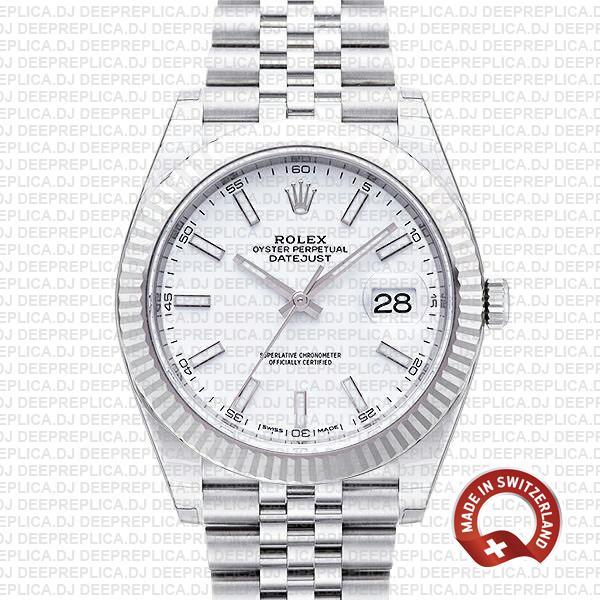 Rolex Datejust 41 White Dial | High Quality Swiss Replica Watch