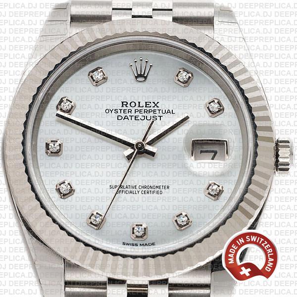 Rolex Datejust Jubilee 41mm White Diamond Dial | Deepreplica