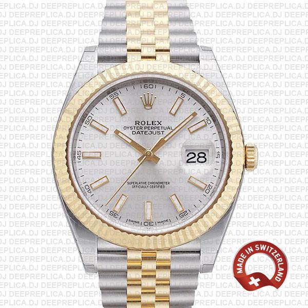 Rolex Datejust 41 Two-Tone Silver Dial Jubilee | Replica Watch