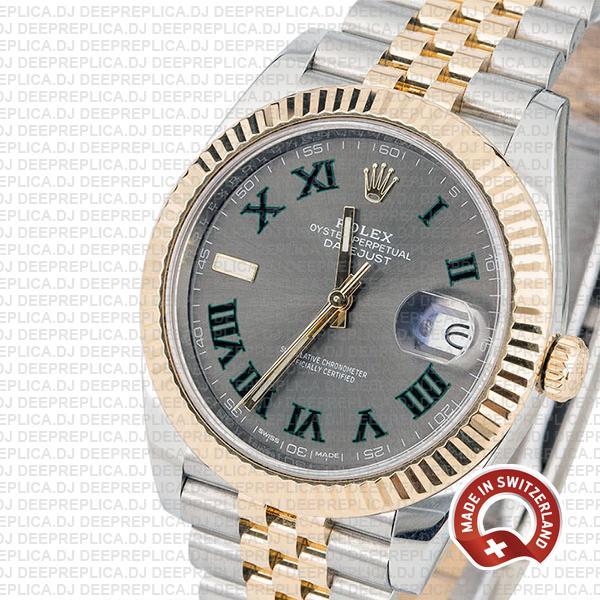 Rolex Datejust Two-Tone Jubilee Roman Dial Replica Watch