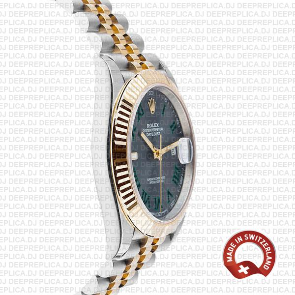 Rolex Datejust 41 Jubilee 18k Yellow Gold Two-Tone Green Roman Dial Stainless Steel