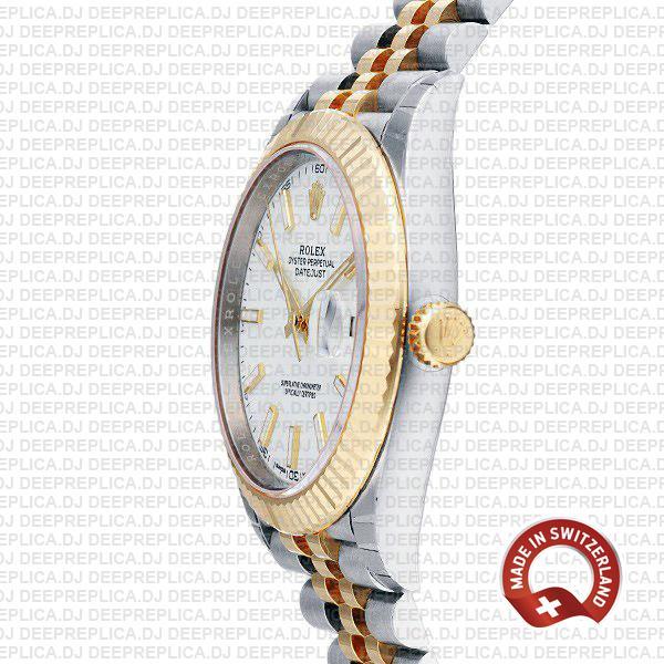 Rolex Replica Oyster Perpetual Datejust 41 Jubilee 18k Yellow Gold Two-Tone, Steel Fluted Bezel Watch