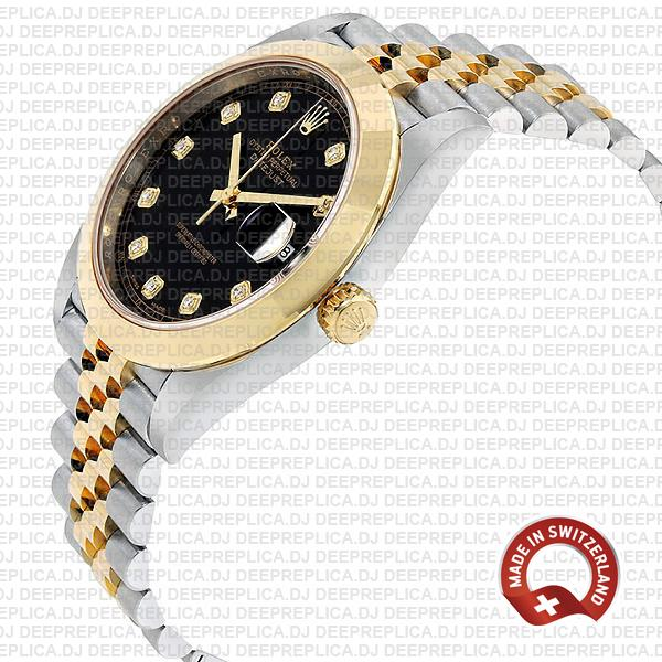 Rolex Oyster Perpetual Datejust 41 Jubilee Bracelet Two-Tone, Stainless Steel 18k Yellow Gold Smooth Bezel