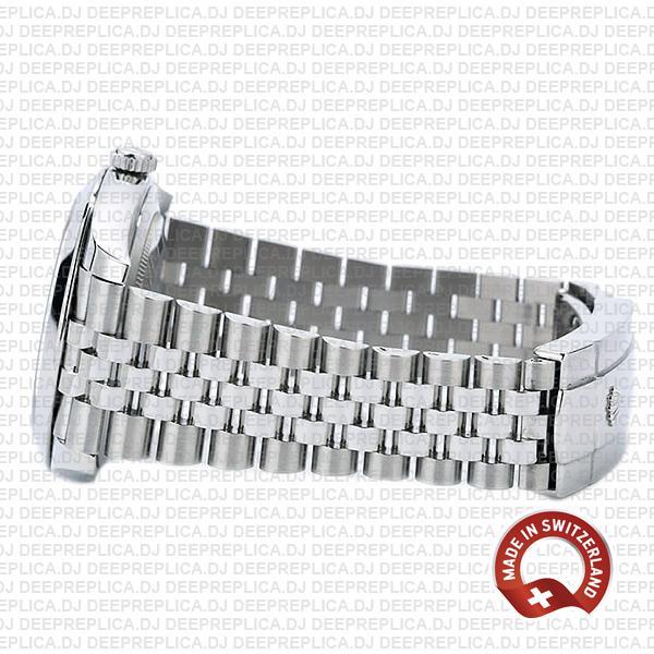 Rolex Datejust 41 Jubilee Steel 18k White Gold Swiss Replica Smooth