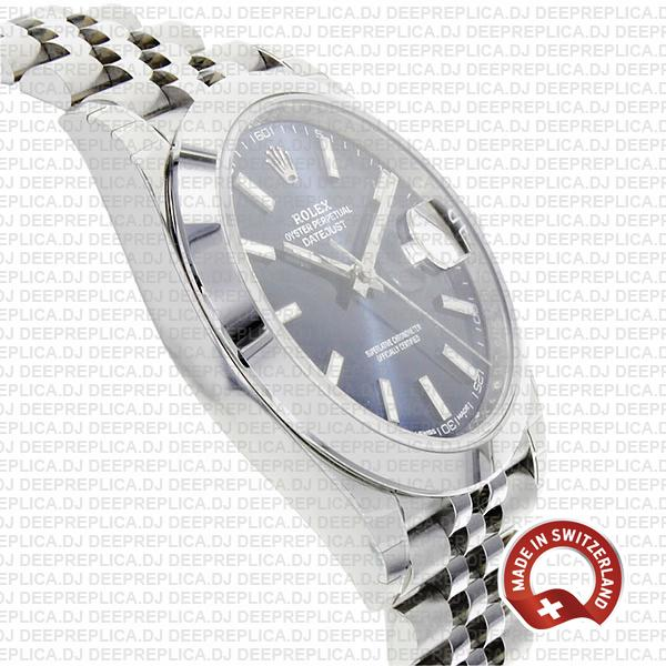Top Rolex Datejust Replica 41 Stainless Steel Blue Dial Watch
