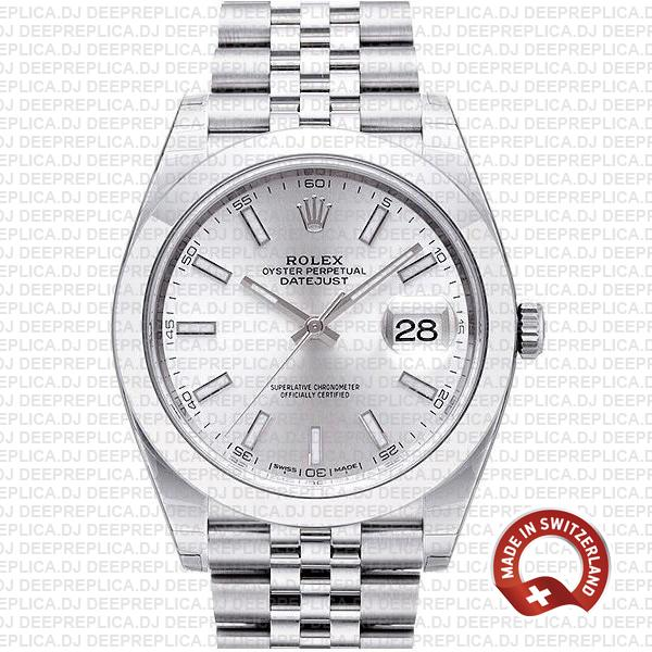 Rolex Datejust 41 Steel Silver Dial | Best Swiss Replica Watch