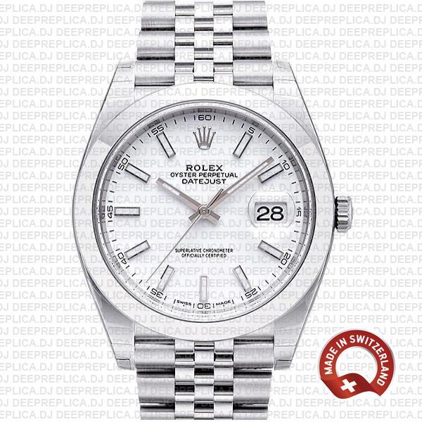 Rolex Datejust 41 904L Steel White Dial | Rolex Replica Watch