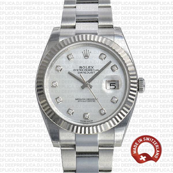 Rolex Datejust 41mm 904L Steel   Best Swiss Replica Watch