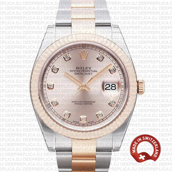 Rolex Datejust 41 Two-Tone Pink Dial Best Fake Rolex Replica