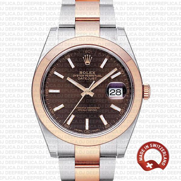 Top Rolex Datejust Replica 41mm Chocolate Dial Rolex Watch