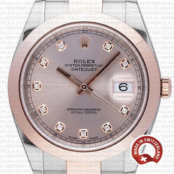 Rolex Datejust Pink Diamond Dial High Quality Rolex Replica