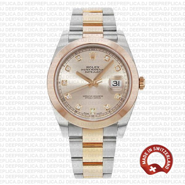 Rolex Datejust Pink Diamond Dial High Quality Rolex Replica Watch
