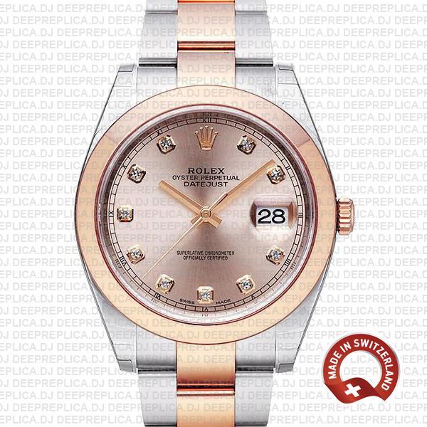 Rolex Datejust Pink Diamond Dial | High Quality Rolex Replica