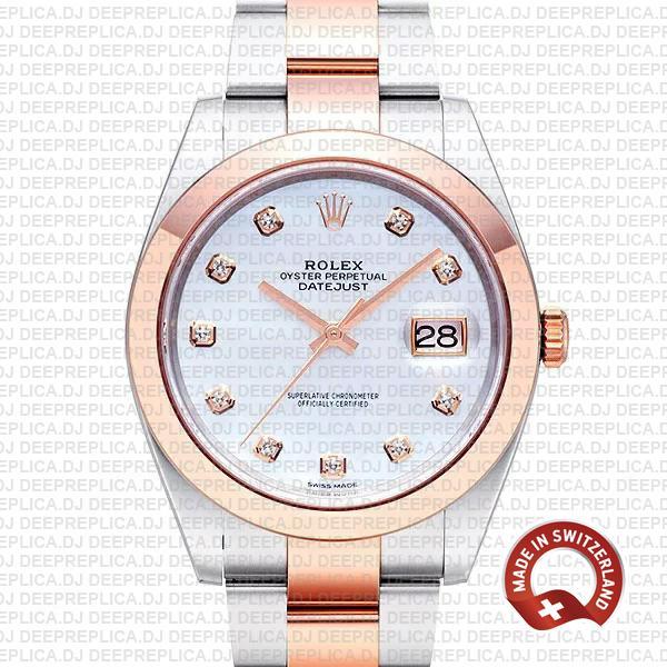 Rolex Datejust 41mm White Diamond Dial | Rolex Clone Watch