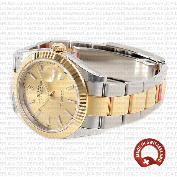 Rolex Oyster Perpetual Datejust 41 18k Yellow Gold Two-Tone Gold Dial 41mm