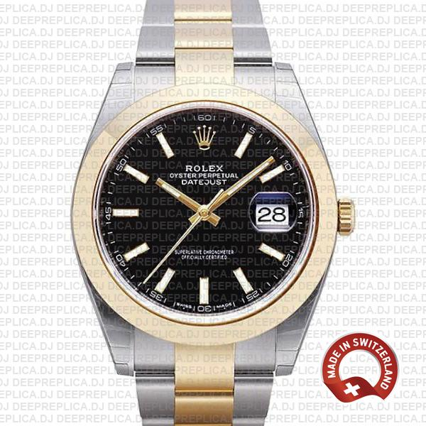 Rolex Datejust 41 Two-Tone Black Dial | Replica Rolex Watch