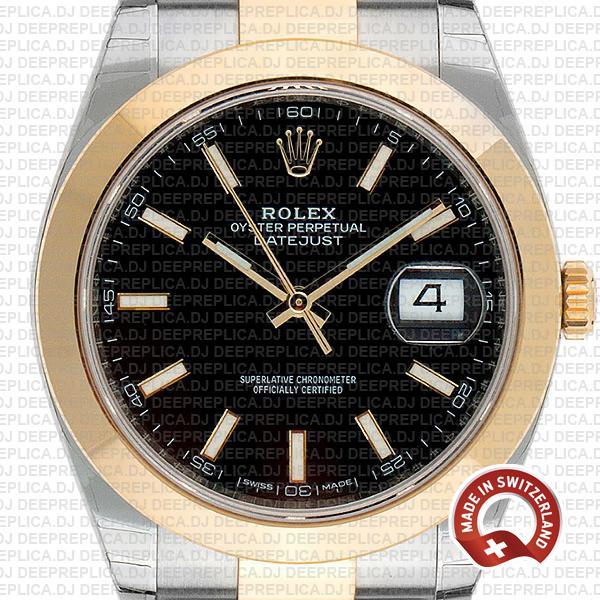 Rolex Datejust 41 Two-Tone Black Dial Replica Rolex Watch