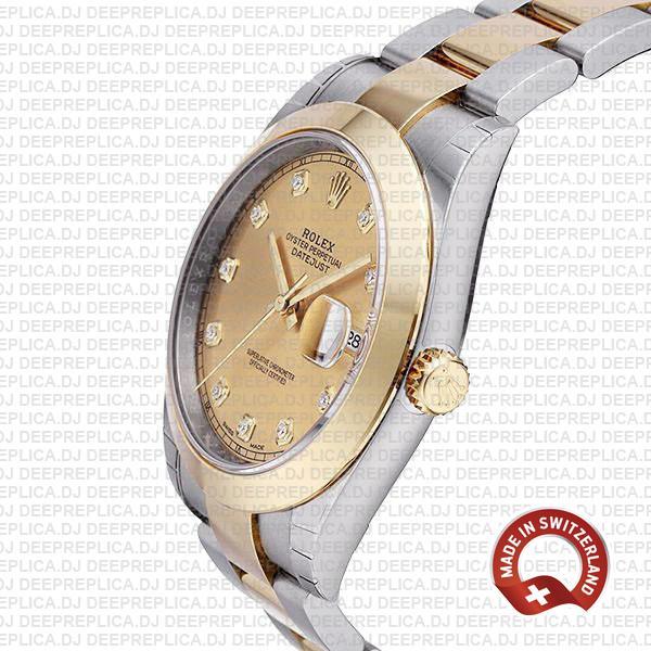 Rolex Datejust 41mm Two-Tone Gold Diamonds Swiss Replica