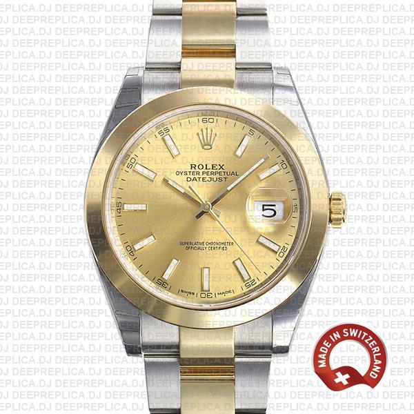 Rolex Datejust Two-Tone Gold Dial Best Rolex Replica Watch