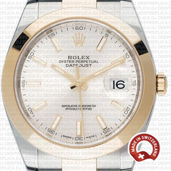 Rolex Datejust 41mm 18k Yellow Gold Two-Tone, 904L Steel Smooth Bezel