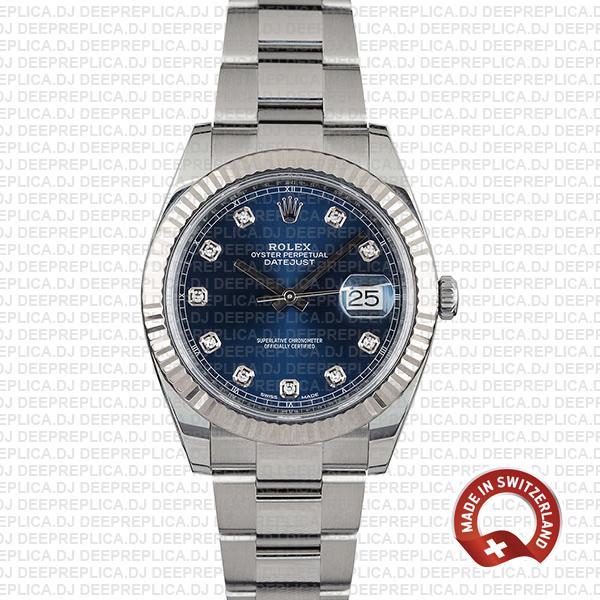 Rolex Datejust 41mm Blue Diamond Dial | Rolex Replica Watch