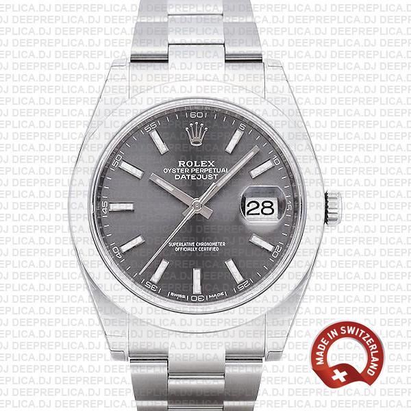 Rolex Datejust 41mm Grey Dial | Best Swiss Replica Watch