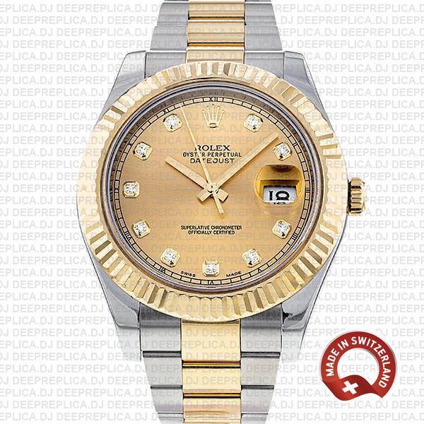 Rolex Datejust II Two-Tone Diamond Dial | Best Replica Watch