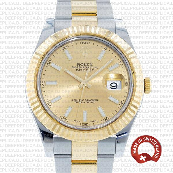 Rolex Datejust ΙΙ Two-Tone Gold Dial   Best Replica Watch