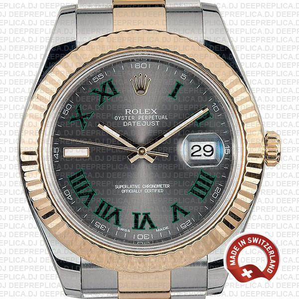 Rolex Datejust ΙΙ Two-Tone Slate Grey Roman Dial Clone Watch
