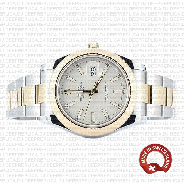 Rolex Datejust ΙΙ Two-Tone White Dial 41mm | Swiss Replica