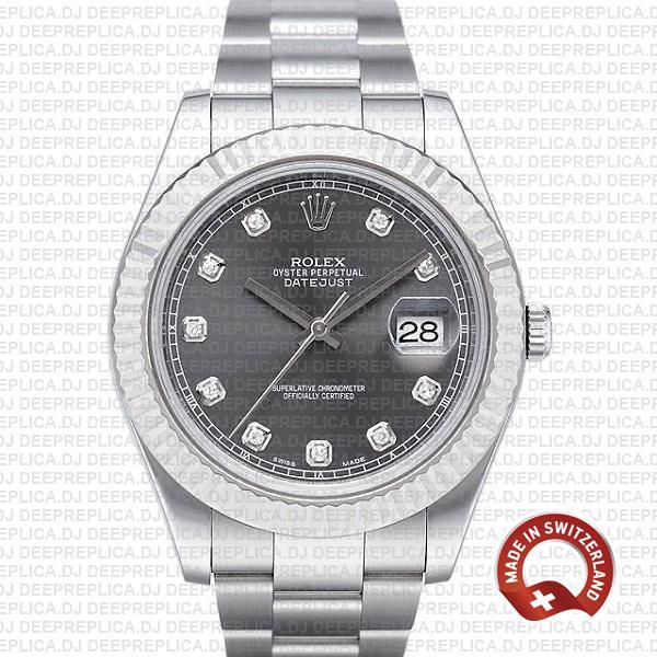 Rolex Datejust ΙΙ Grey Dial Diamonds | Rolex Replica Watch