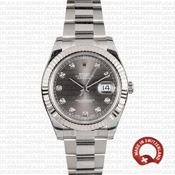 Rolex Datejust ΙΙ Grey Dial Diamonds   Rolex Replica Watch