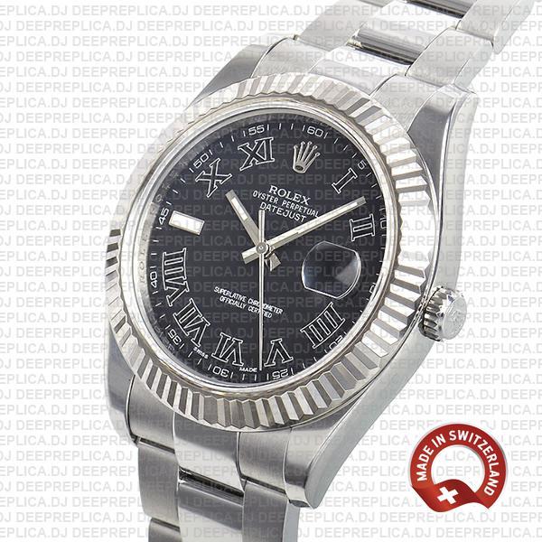 Rolex Datejust ΙΙ Black Dial Roman 41mm | Rolex Replica Watch