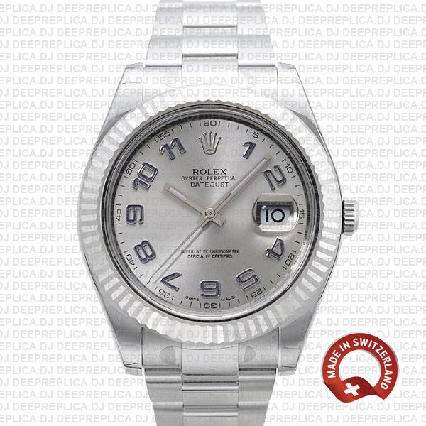 Rolex Datejust ΙΙ 41mm Silver Arabic Dial | Swiss Made Replica