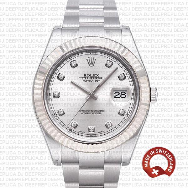 Rolex Datejust ΙΙ Silver Diamonds Dial | Luxury Replica Watch