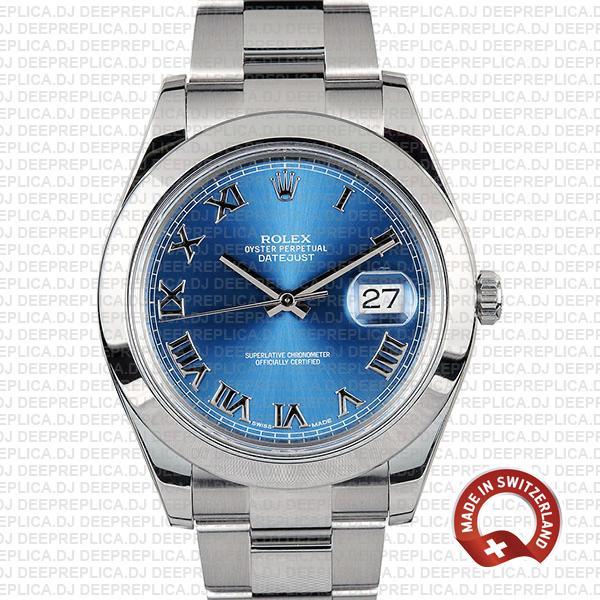 Rolex Datejust II Blue Dial Steel 41mm 116300 | Rolex Replica